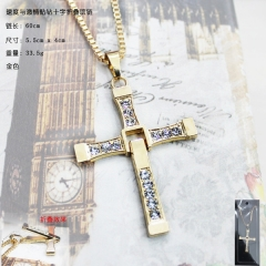 Fast & Furious Gold Anime Necklace