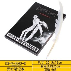 Death Note Anime Notebook with Quill Pen