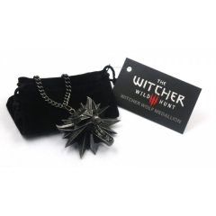 The Witcher 3 Wolf Head Anime Necklace Wholesale (12pcs per set)