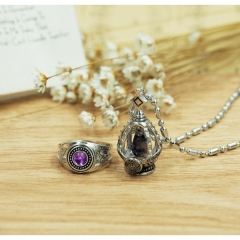 Mahou Shoujo Anime Necklace+Ring