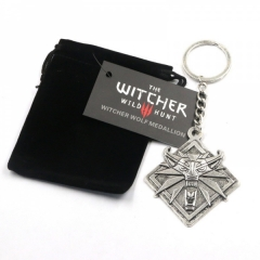 The Witcher 3 Wolf Head Anime Keychain(12pcs per set)