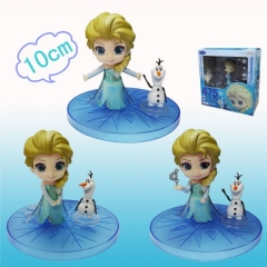 Hot Movie Frozen Elsa Toy Plastic Can Change Face Anime Figures 475#