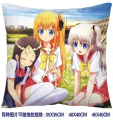 Charlotte Anime Pillow 35*35CM (two-sided)