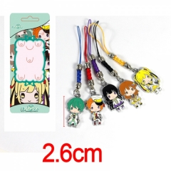 TSUKIUTA Colorful Alloy Figure Anime Phone Strap