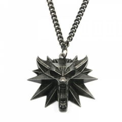 The Witcher 3 Wolf Head Anime Necklace Wholesale(12pcs per set)