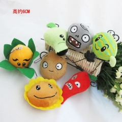 Plants vs Zombies Anime Plush Pendant(6cm)