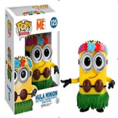 Funko POP Hula Minion Despicable Me Collectable Anime PVC Figures #125