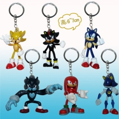 Sonic Anime Figure Keychain set
