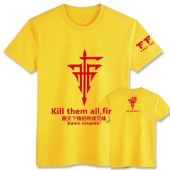 FFF Yellow Japanese Anime T shirts