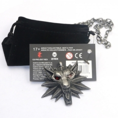 The Witcher 3 hot Sale 5.5CM*5CM Anime Necklace(12pcs per set)