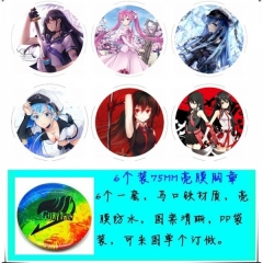 Akame ga KILL  Anime Brooch (7.5cm)