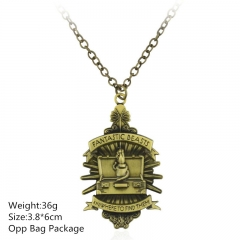 Fantastic Beasts and Where to Find Them Gold Alloy Anime Necklace (10pcs/set)