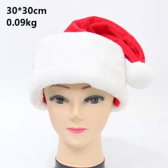 Santa Claus Anime Red Cosplay Plush Soft Hat