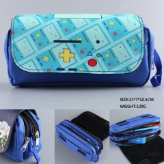 Adventure Time America Movie Cartoon PU Multifunctional Anime Pencil Bag