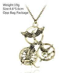 The Hunger Games Mockingjay Golden Alloy Anime Necklace (10pcs/set)