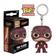 Funko POP The Flash Cartoon Figure Pendant Keyring  Super Hero Anime Keychain