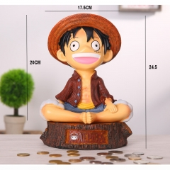 One Piece Luffy Cartoon Figure Resin Anime Money Pot 24.5CM
