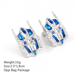 Colorful Transformers 2.5*1.8CM Alloy Cufflinks Fashion Design Mask Anime Cuff Button 10pcs/set