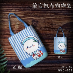 Kaomoji Emoticon Cartoon Canvas Shoulder Bags Anime Shopping Bag