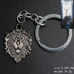 Game World Of Warcraft Anime Lion Mark Anime Keychain