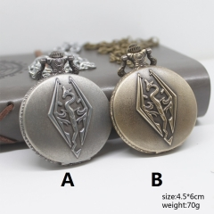 The Elder Scrolls Two Color Can Choose Pocket Watch Logo Anime Watch