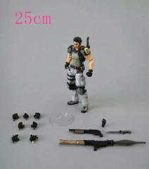 Play Arts Resident Evil Chris Redfield Anime Figures