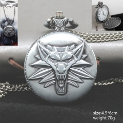 The Witcher Logo Pocket Watch Wholesale Silver Anime Watch