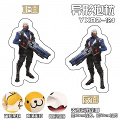 Overwatch Soldier Deformable Anime Plush Pillow 40*50CM