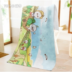 Kaomoji One Side Anime Bath Towel