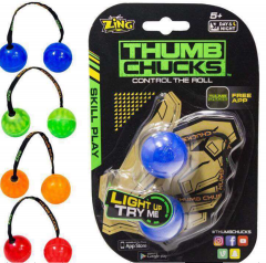Hot Sale Thumb Chucks With Light Four Color Combination Decompression Game Toys