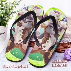 Overwatch Soft Rubber Slippers Anime Flip-flops