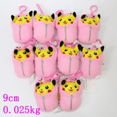 Pokemon Fancy Plush Pendant Anime Pikachu Soft Keychain 10pcs/set