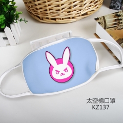 Overwatch Space Cotton Anime Mask