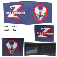 Grendizer Bule Color Silicone Anime Wallet