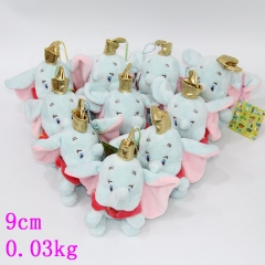 Disney Dumbo Plush Pendant Anime Cute Animal Keychain 10pcs/set