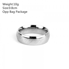 The Lord of the Rings Stainless Steel Anime Ring (set)