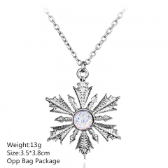 Frozen Snow Wholesale Alloy Anime Necklace (10pcs/set)