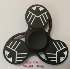 S.H.I.E.L.D. Hot Sale Metal Fidget Spinner Black 4.5CM Rotation Time Long Anti Stress Toys