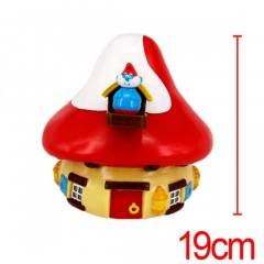 Good Quality The Smurfs Red Mushroom Anime Figure Money Pot