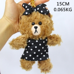 Line Bear Brown Cute Doll Pendant Anime Plush Toy