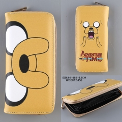 Colorful Cartoon Adventure Time With Finn And Jake PU Purse Wholesale Good Quality Anime Long Style Wallet