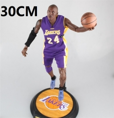 NBA Star Purple Colthing Kobe Cartoon Action Anime Figure 24# 30CM