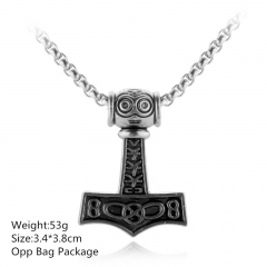 Antique Silver The thor Cosplay Choker New Products Alloy Anime Necklace 10pcs per set