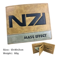 Mass Effect Anime Popular Game PU Fancy Wallets