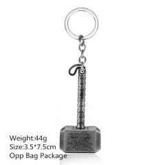 High Quality New Style The thor Alloy Keyring Antique Silver Anime House Keychain 10pcs/set