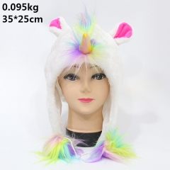Japan Cartoon Unicorn Anime Cute Plush Cosplay Hat