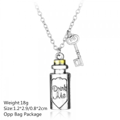 Alice in Wonderland Silver Alloy Anime Necklace(10pcs/Set)