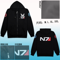 Mass Effect Cotton Zip N7 Anime Hoodie