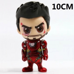 Iron Man Hot Sale Super Hero Shaking Head Anime Action Figure 10CM