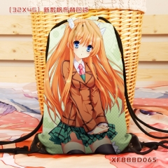 Rewrite Ohtori Chihaya Cartoon Backpack Canvas Anime Drawstring Bag